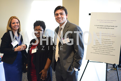 Cristal Brun, Melinda Coles, Jose Gonzalez, DC Rape Crisis Center celebrates 40 years at Reed Smith.