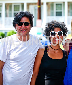 Henrik Ayvazian and Avish Khebrehzadeh. East Bali Poverty Project's Beat the Heat Event. Photo by Tony Powell. Shipman/Carney residence. June 30, 2012