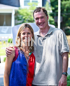 Virginia Shore and Tom Hardart. East Bali Poverty Project's Beat the Heat Event. Photo by Tony Powell. Shipman/Carney residence. June 30, 2012