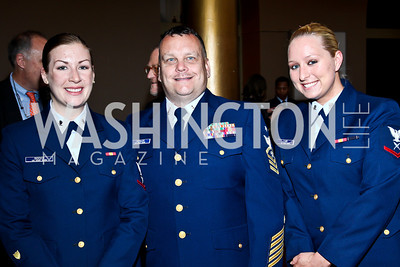 Javen Biddick, John Schuler, Emily Farr. Eighth Annual Tribute to the United States Coast Guard. Photo by Tony Powell. Building Museum. June 12, 2012
