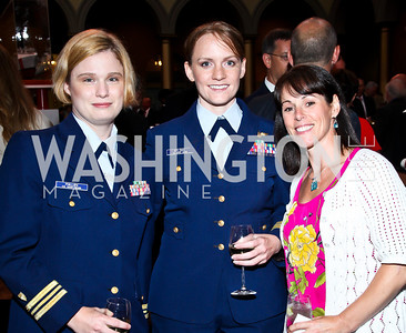 Catherine Phillips, Jessica Bylsma, Allison Hill. Eighth Annual Tribute to the United States Coast Guard. Photo by Tony Powell. Building Museum. June 12, 2012