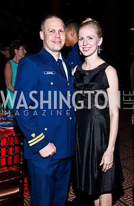 Mark and Hayley Ketchum. Eighth Annual Tribute to the United States Coast Guard. Photo by Tony Powell. Building Museum. June 12, 2012
