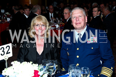 Mary Jane Currier and Vice Admiral John Currier. Eighth Annual Tribute to the United States Coast Guard. Photo by Tony Powell. Building Museum. June 12, 2012