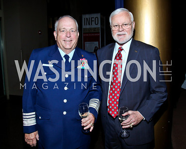Jim Vass, Adm. Dennis Sirois. Eighth Annual Tribute to the United States Coast Guard. Photo by Tony Powell. Building Museum. June 12, 2012