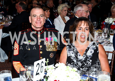 Sgt. Maj. Bryan Battaglia and Lisa Battaglia. Eighth Annual Tribute to the United States Coast Guard. Photo by Tony Powell. Building Museum. June 12, 2012