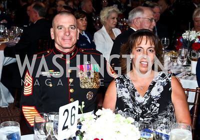 Sgt. Maj. Bryan Battaglia and Lisa Battaglia. Eighth Annual Tribute to the United States Coast Guard. Photo by Tony Powell. Building Museum. June 12, 2012