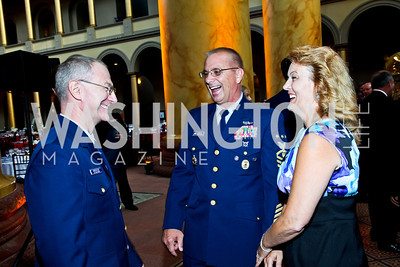 Kevin Isherwood, Michael and Debbie Leavitt, Eighth Annual Tribute to the United States Coast Guard. Photo by Tony Powell. Building Museum. June 12, 2012