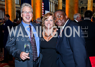 David Francis, Kathy Scott, Jaurin Joseph. Eighth Annual Tribute to the United States Coast Guard. Photo by Tony Powell. Building Museum. June 12, 2012