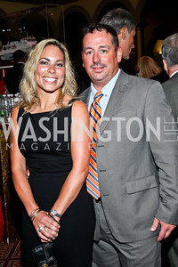 Lisa and Bryan Wood. Eighth Annual Tribute to the United States Coast Guard. Photo by Tony Powell. Building Museum. June 12, 2012