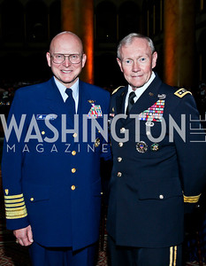 U.S Coast Guard Commandant Admiral Robert Papp, Joint Chiefs of Staff Chairman General Martin Dempsey. Eighth Annual Tribute to the United States Coast Guard. Photo by Tony Powell. Building Museum. June 12, 2012