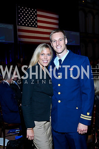Emily and Miles Young. Eighth Annual Tribute to the United States Coast Guard. Photo by Tony Powell. Building Museum. June 12, 2012