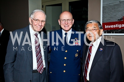 Adm. James Gracey, Adm. Robert Papp, Norm Minetta. Eighth Annual Tribute to the United States Coast Guard. Photo by Tony Powell. Building Museum. June 12, 2012