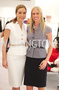 Lauren Muzinich, Jana Morettini. Dior and Elle had a cocktail party, hosted by Linda and Jill Daschle, to support N Street Village.  May 10, 2012.  Photo by Ben Droz