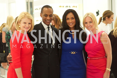 Mary Tilt Hammond, Brian Maillian, Beverly Johnson, Jill Daschle. Dior and Elle had a cocktail party, hosted by Linda and Jill Daschle, to support N Street Village.  May 10, 2012.  Photo by Ben Droz