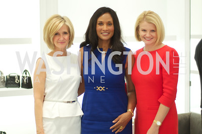 Linda Daschle, Beverly Johnson, Mary Tilt Hammond. Dior and Elle had a cocktail party, hosted by Linda and Jill Daschle, to support N Street Village.  May 10, 2012.  Photo by Ben Droz