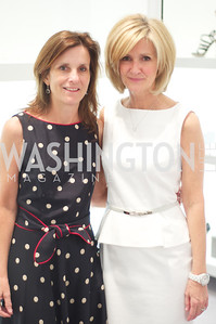 Nancy Dorn, Linda Daschle.   Dior and Elle had a cocktail party, hosted by Linda and Jill Daschle, to support N Street Village.  May 10, 2012.  Photo by Ben Droz