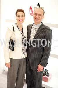 Marianne Chaconas, Douglas Charnas. Dior and Elle had a cocktail party, hosted by Linda and Jill Daschle, to support N Street Village.  May 10, 2012.  Photo by Ben Droz