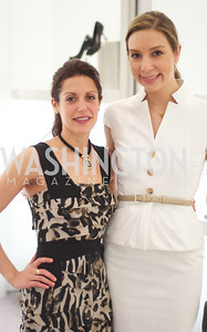Maryam Mujica, Lauren Muzinich. Dior and Elle had a cocktail party, hosted by Linda and Jill Daschle, to support N Street Village.  May 10, 2012.  Photo by Ben Droz