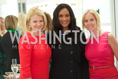 Mary Tilt Hammond, Beverly Johnson, Jill Daschle. Dior and Elle had a cocktail party, hosted by Linda and Jill Daschle, to support N Street Village.  May 10, 2012.  Photo by Ben Droz