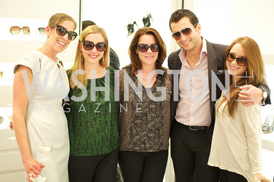 Mickie Simon, Mary-Morgan Limperis, Kimball Stroud, Faris Abinader, Ashleigh Dyson. Dior and Elle had a cocktail party, hosted by Linda and Jill Daschle, to support N Street Village.  May 10, 2012.  Photo by Ben Droz