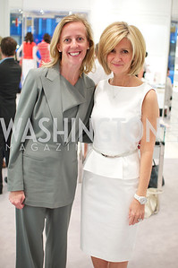 Stuart Elizabeth Allen, Linda Daschle.  Dior and Elle had a cocktail party, hosted by Linda and Jill Daschle, to support N Street Village.  May 10, 2012.  Photo by Ben Droz