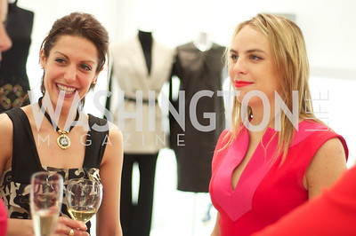 Maryam Mujica and Taylor Olson.  Dior and Elle had a cocktail party, hosted by Linda and Jill Daschle, to support N Street Village.  May 10, 2012.  Photo by Ben Droz
