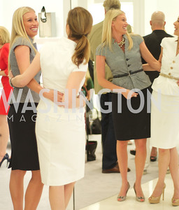 Jana Morettini, Lauren Muzinich.   Dior and Elle had a cocktail party, hosted by Linda and Jill Daschle, to support N Street Village.  May 10, 2012.  Photo by Ben Droz