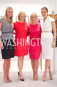 Jana Morettini, Mary Tilt Hammond, Jill Daschle, Lauren Muzinich. Dior and Elle had a cocktail party, hosted by Linda and Jill Daschle, to support N Street Village.  May 10, 2012.  Photo by Ben Droz