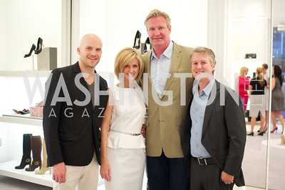 Nathan Daschle, Linda Daschle, John Blandford, Tom Davidson.  Dior and Elle had a cocktail party, hosted by Linda and Jill Daschle, to support N Street Village.  May 10, 2012.  Photo by Ben Droz