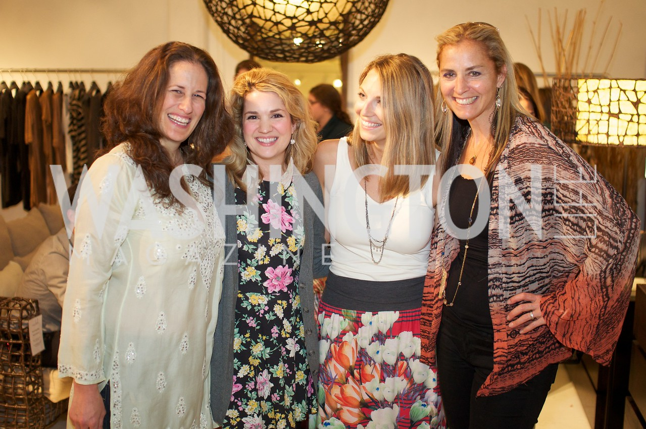 Julia Cohen, Emily Ion, Jocelyn Lyle , Ami Aronson. 2 Environmental Working Group hosts an Earth Day reception, with Washington Life Magazine.