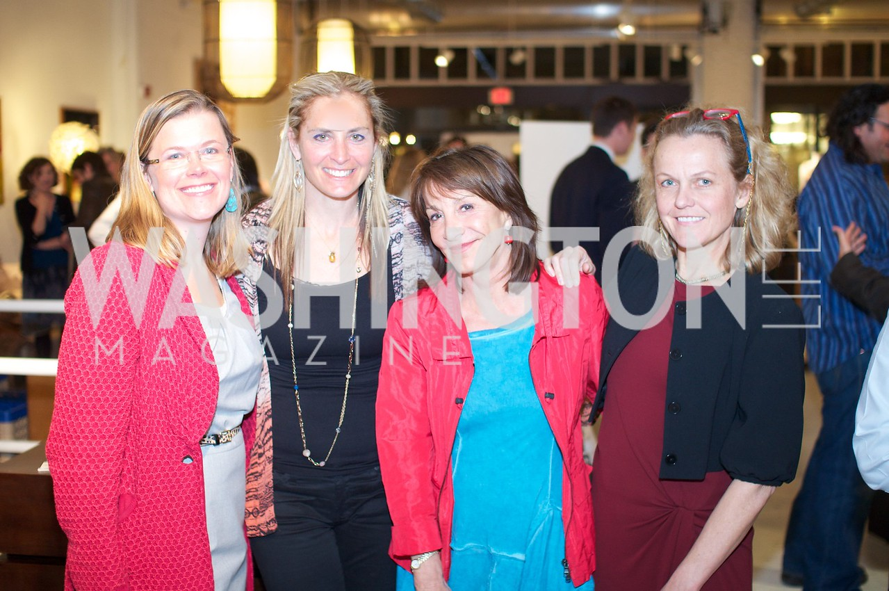 Heather White, Nora Pouillon, Nina Ossanlou, Lisa Renstrom. Environmental Working Group hosts an Earth Day reception, with Washington Life Magazine.
