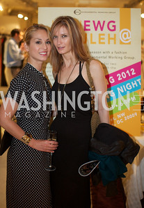 Violetta Markelou and Melanie Lozano. Environmental Working Group hosts an Earth Day reception, with Washington Life Magazine.