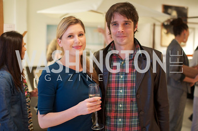 Ashley Prange, Stewart Lupton.  Environmental Working Group hosts an Earth Day reception, with Washington Life Magazine.