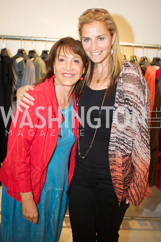 Nora Pouillon, Ami Aronson. Environmental Working Group hosts an Earth Day reception, with Washington Life Magazine.