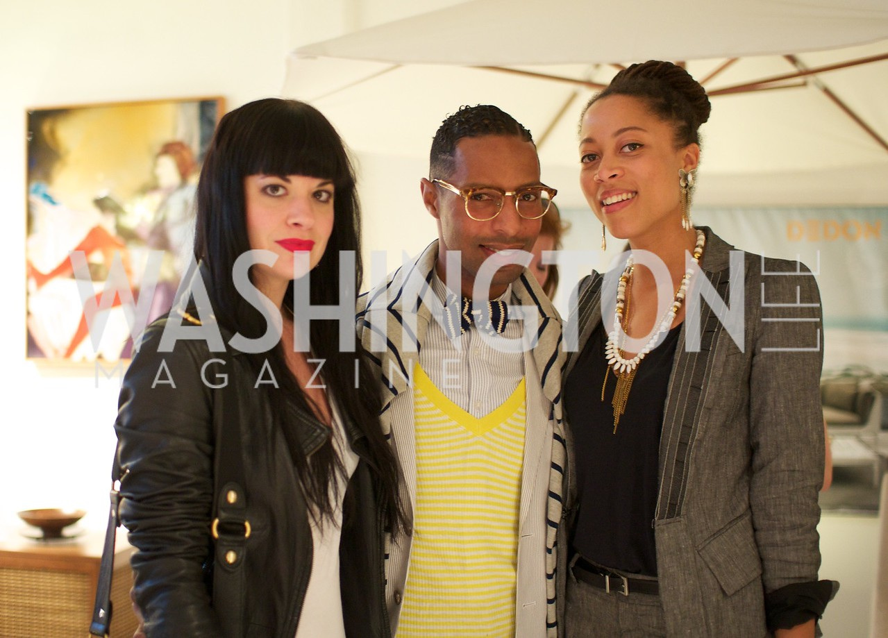 Tara Tapanicolas,  Quincy Jones , Nya Gill. Environmental Working Group hosts an Earth Day reception, with Washington Life Magazine.