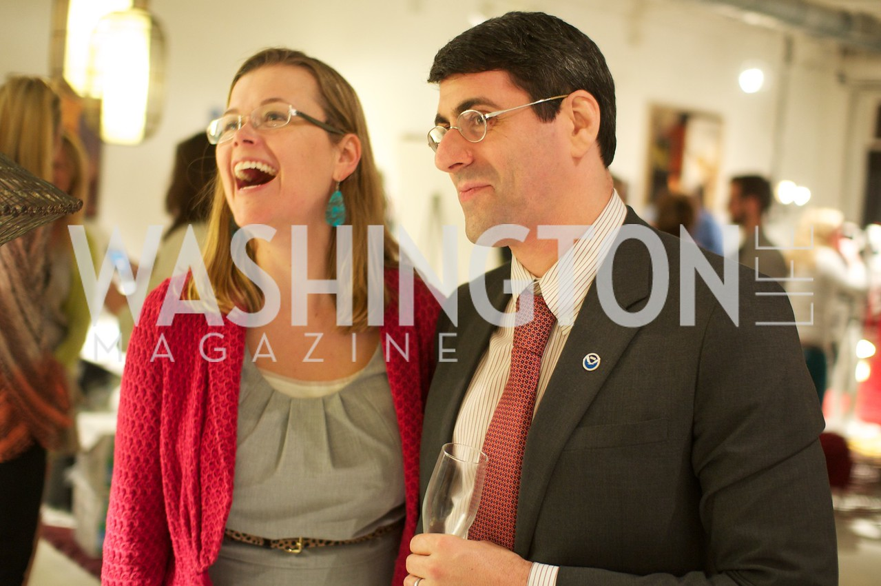 Heather White and Husband. Environmental Working Group hosts an Earth Day reception, with Washington Life Magazine.
