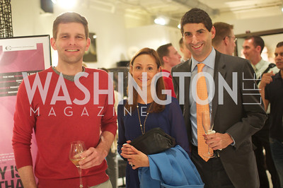 Matthew Timothy, Ludwika Alvarez, Robert Telchin. Environmental Working Group hosts an Earth Day reception, with Washington Life Magazine.