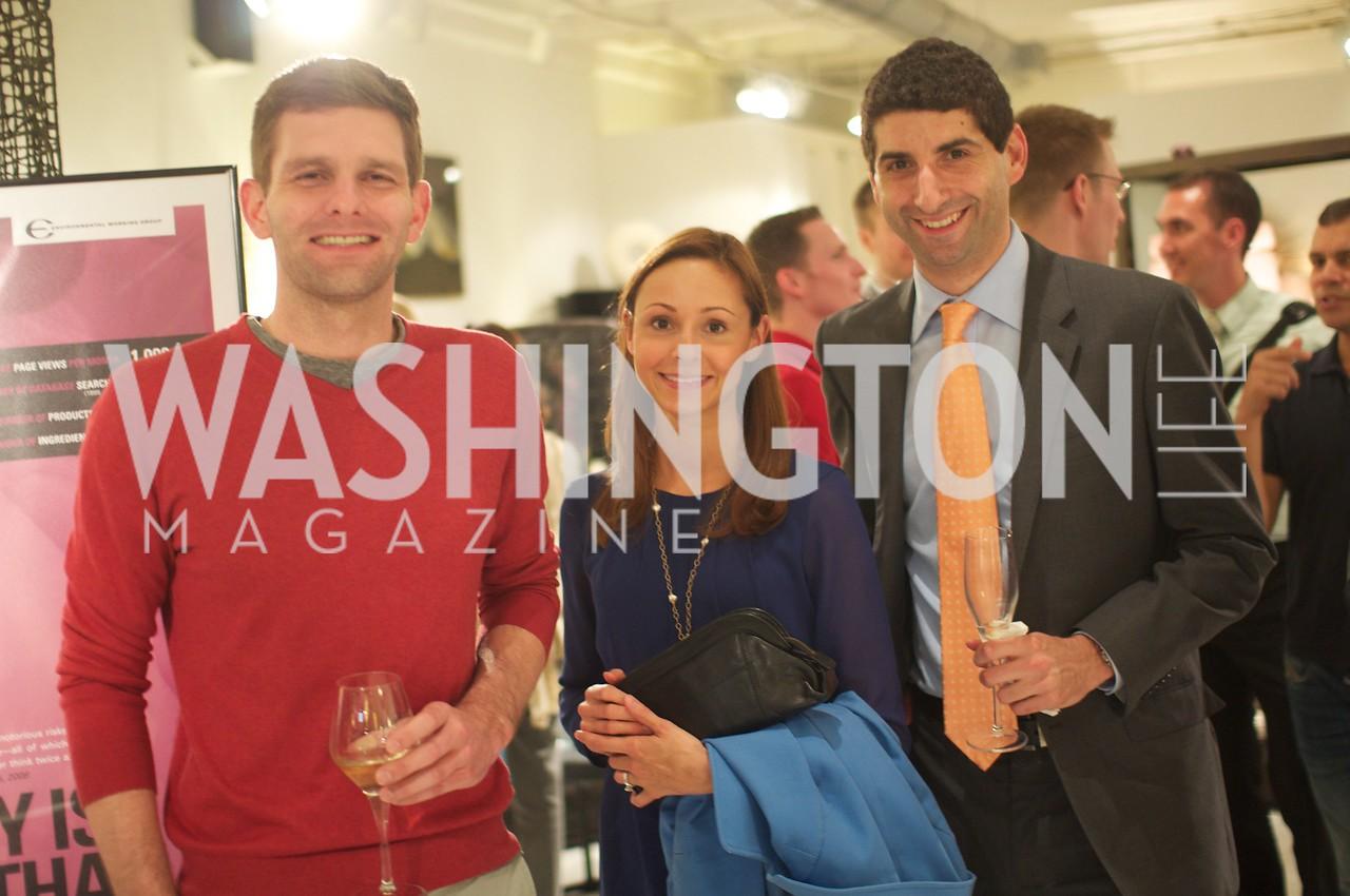 Matthew Timothy, Ludwika Alvarez, Robert Telchin. Environmental Working Group hosts an Earth Day reception, with Washington Life Magazine.