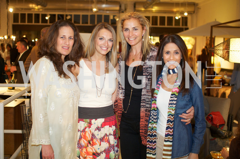Julia Cohen, Jocelyn Lyle , Ami Aronson, Darian Drescher.Environmental Working Group hosts an Earth Day reception, with Washington Life Magazine.