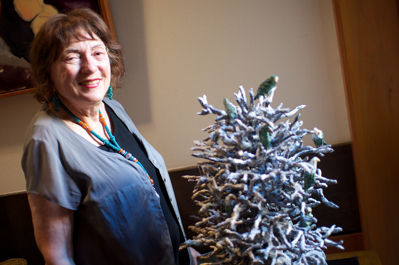 Joan Danziger. Evers & Co. Spring Art Show in Dupont.  Photo by Ben Droz.