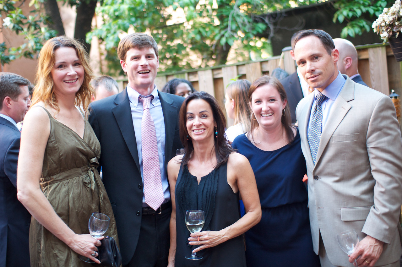 Anne-Marie Finnell, Matthew Smith, Michelle Delino, Courtney Abrams, Tom Muldoon.  Evers & Co. Spring Art Show in Dupont.  Photo by Ben Droz.