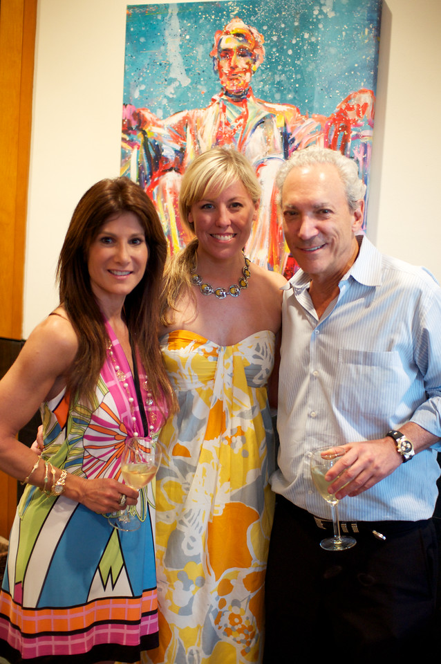 Julie White, Maggie O'Neill, Dennis Ratner. Evers & Co. Spring Art Show in Dupont.  Photo by Ben Droz.