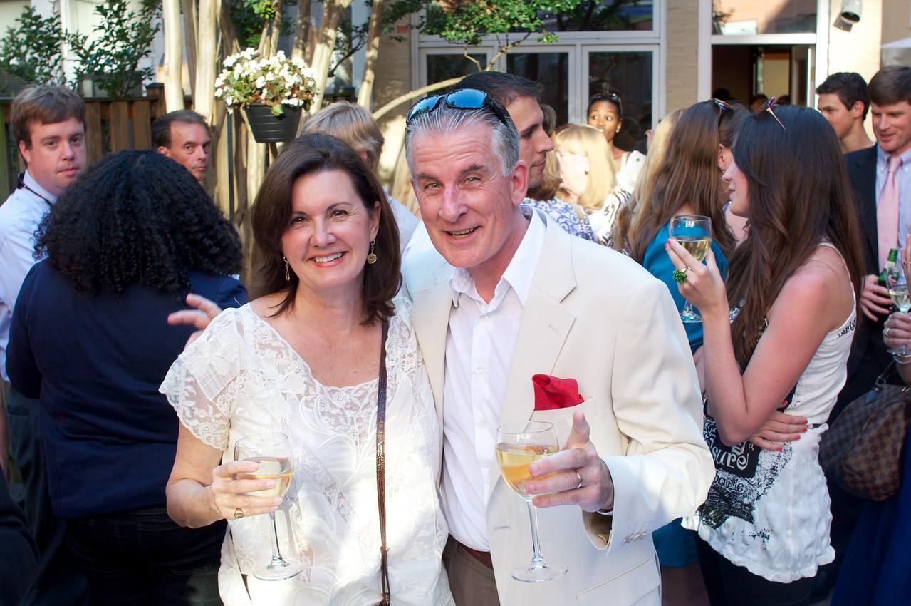 Lynn Bulmer, Al Charbonneau,  Evers & Co. Spring Art Show in Dupont.  Photo by Ben Droz.