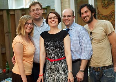 Jennifer Norton, Jackson Norton, Dina Paxenos, Michael King, Dino Paxenos .  Evers & Co. Spring Art Show in Dupont.  Photo by Ben Droz.
