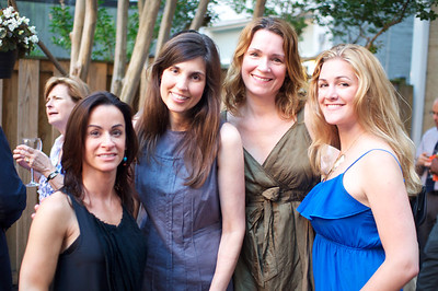 Michelle Delino, Mary Bladel, Anne-Marie Finnell, Maggie Coakley. Evers & Co. Spring Art Show in Dupont.  Photo by Ben Droz.