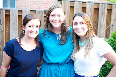 Courtney Abrams , Anna Pugh,  Shelley Fisher,  Evers & Co. Spring Art Show in Dupont.  Photo by Ben Droz.