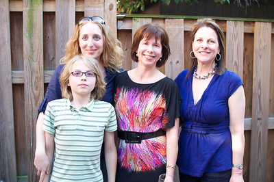 Maggie Michael, Clay Steinhilber, Andrea Evers, Julie Heifetz, Evers & Co. Spring Art Show in Dupont.  Photo by Ben Droz.