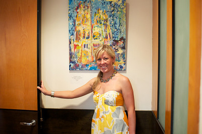 Artist Maggie O'Neill.  Evers & Co. Spring Art Show in Dupont.  Photo by Ben Droz.