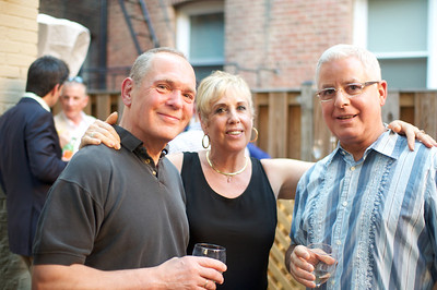 Bill Jonas (artist), Bonnie Roberts-Burke, Fernando Mayol, Evers & Co. Spring Art Show in Dupont.  Photo by Ben Droz.