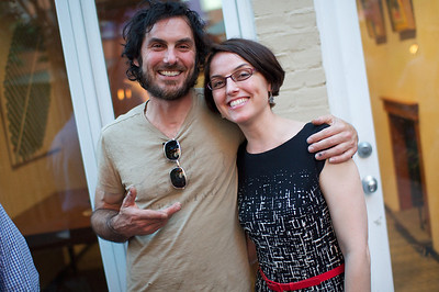 Dino and Dina Paxenos. Evers & Co. Spring Art Show in Dupont.  Photo by Ben Droz.